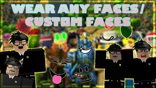 How to Wear any Face on Roblox For Free / How to wear Custom Faces on Roblox!