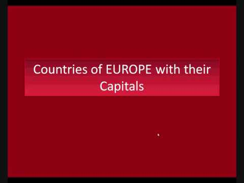 List Of Countries In Europe With Their Capital YouTube - Countries in europe and their capitals