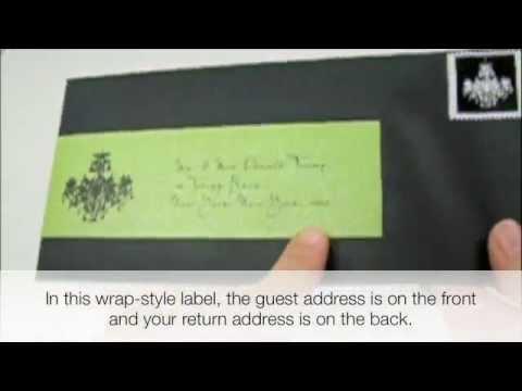 Envelope Icing - Part 2: Elegant Address Labels Step-by-Step - YouTube