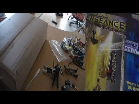 RARE WWE VENGEANCE METAL TOY PLAYSET UNBOXING!!