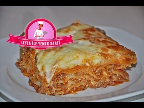 Kıymalı İtalyan Lazanya Tarifi ( Italienische Lasagne Rezept ) - Lasagne