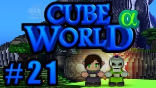 CUBE WORLD #21 - Aliens in Thalsel Valley! ■ Let's Play Together Cube World