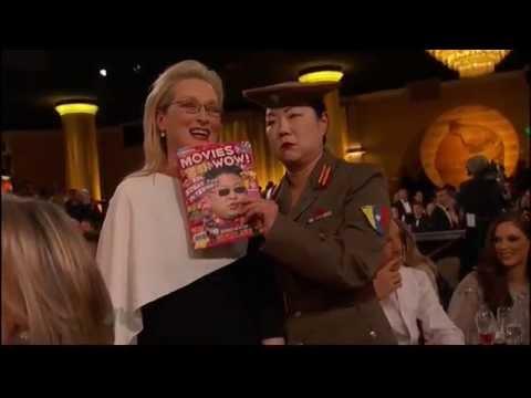 2015 Golden Globes Benedict Cumberbatch Photobombs Meryl Streep and Margaret Cho