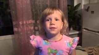 Ребенок Яна рассказывает стих / К деткам елочка пришла / Дети самое дорогое