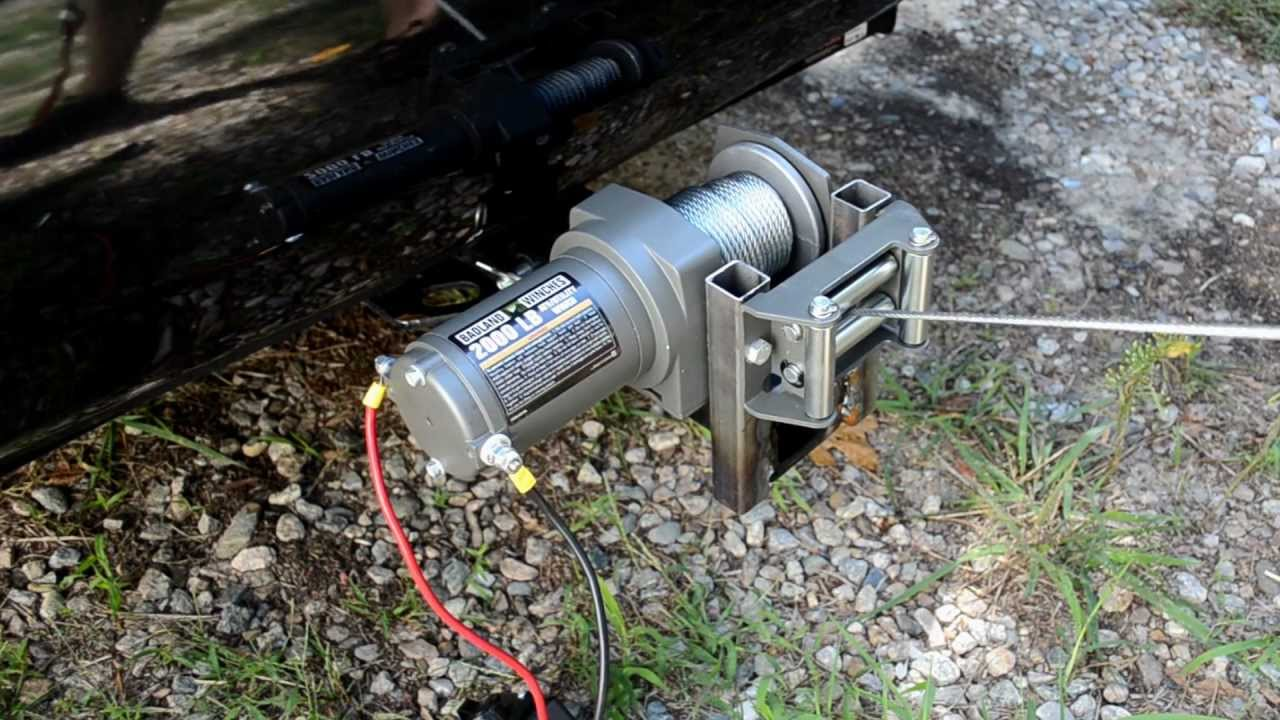 Mounting a HF 2000lb ATV Winch to Trailer Hitch  YouTube