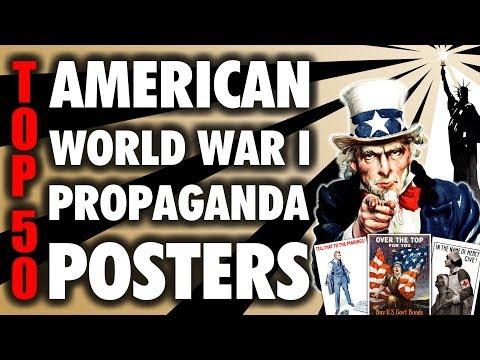Top 50 American World War I Propaganda Posters (4K UHD)