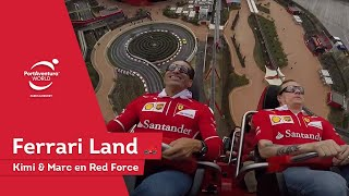 Kimi Räikkönen & Marc Gené en Red Force | Ferrari Land | PortAventura World