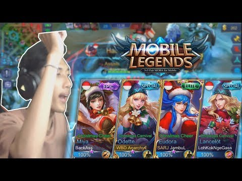 4 Youtuber Full SKIN NATAL! + maen di MAP NATAL! NGAKAK ASLI - Mobile Legend Indonesia