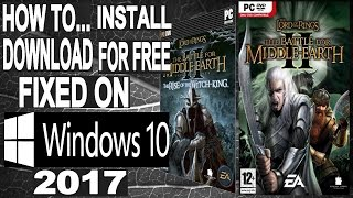 windows 10 installing lotr battle for middle earth 2 rise of the witch king with rj rotkw mod