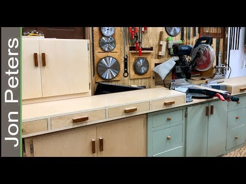 Build A Miter Saw Station With Storage Cabinets Youtube
