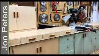 Build a Miter Saw Station with Storage Cabinets
