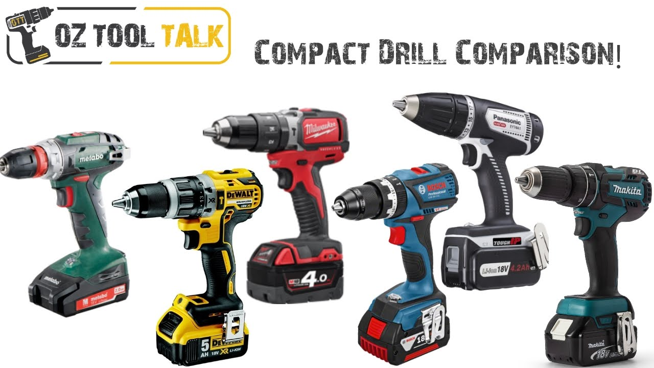 Compact 18v Drill Shootout Dewalt Milwaukee Bosch Makita Metabo Panasonic You