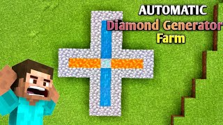 How to make autoṁatic diamond generator in minecraft    minecraft   