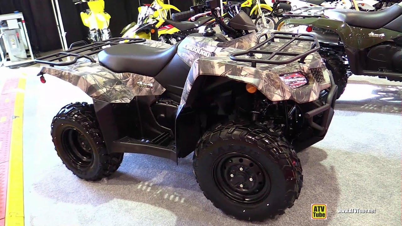 2015 suzuki kingquad 400 camo recreational atv walkaround 2014 st hyacinthe atv show youtube. Black Bedroom Furniture Sets. Home Design Ideas