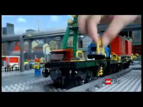 Lego City 7938 Pociąg Osobowy 7939 Pociąg Towarowy Whoosh
