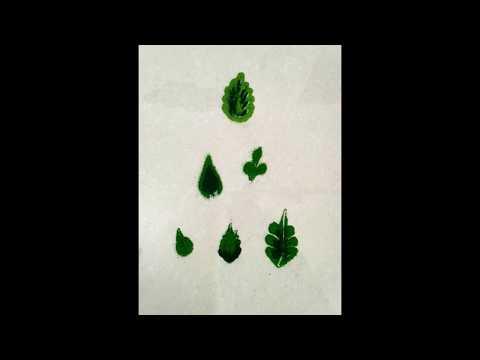 How to Make Leaf in Rangoli..Easy steps to make leaf in Rangoli for beginners...