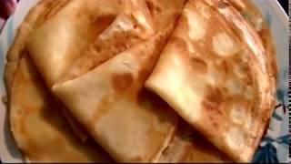 Блинчики на молоке  Рецепт и приготовление