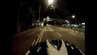 GoPro Hero 3 White Edition - Evening street cycling {960@30fps}