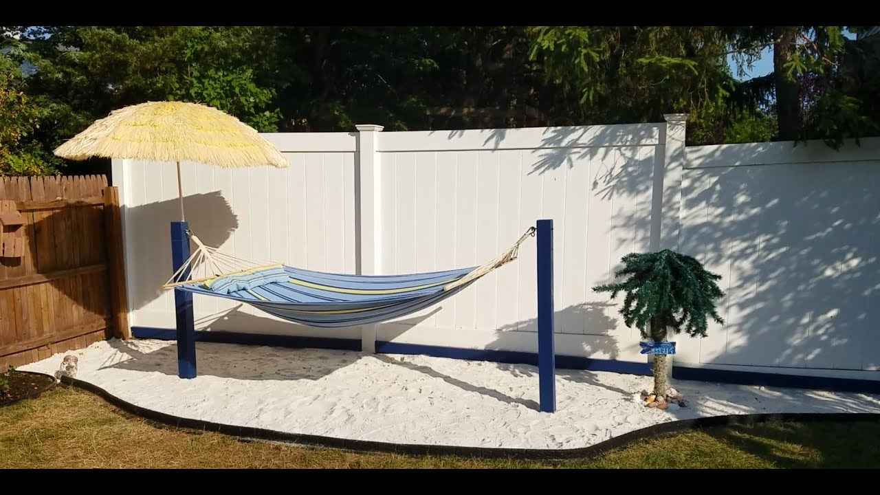 Building Your Own Private Beach In The Backyard - YouTube on Coastal Backyard Ideas  id=58754