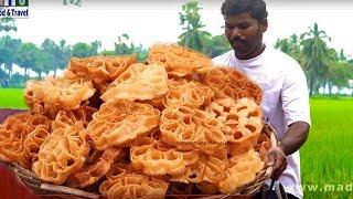 How To Make Sweet Rose Flowers | Indian Sweet Gulabi Puvvulu Recipe | Gulabi Puvvulu Recipe