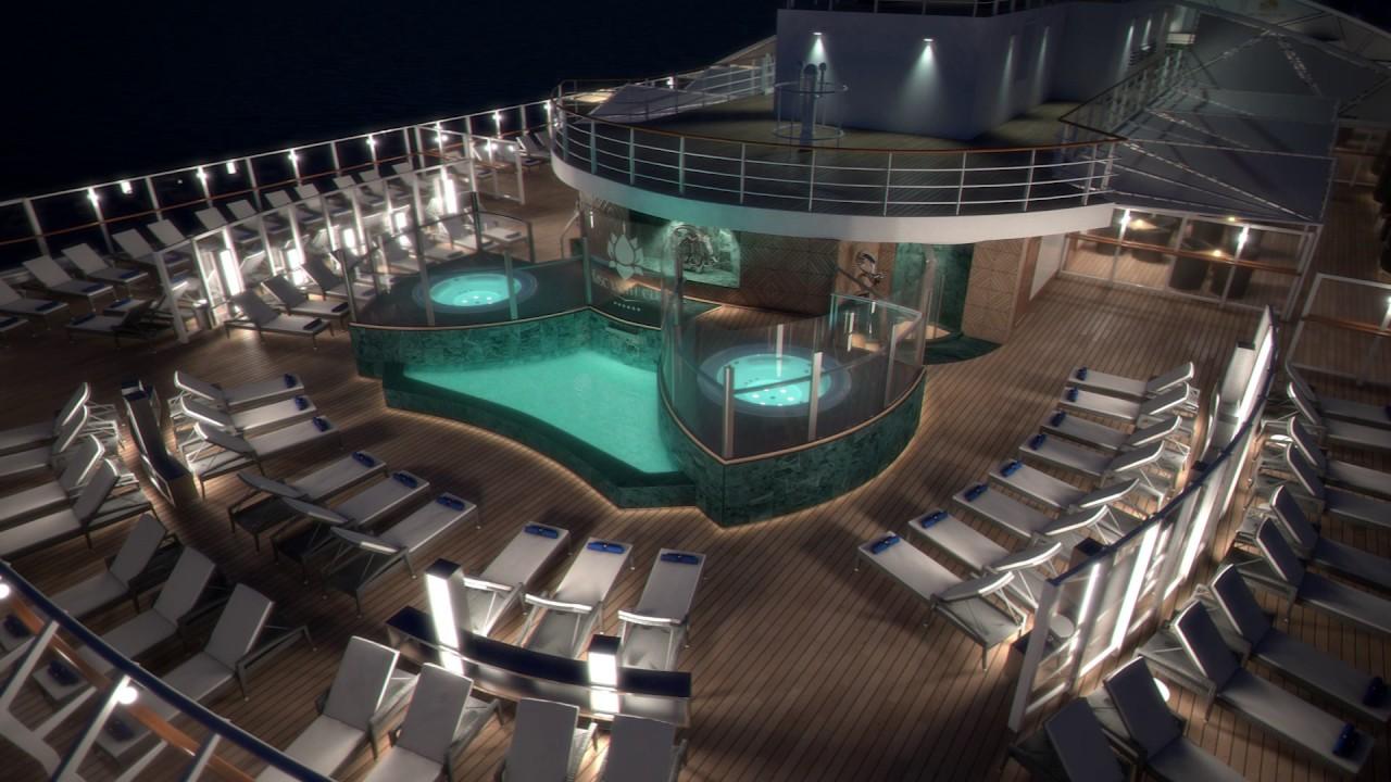 Msc seaside solarium et piscine msc yacht club youtube for Club piscine soleil chicoutimi