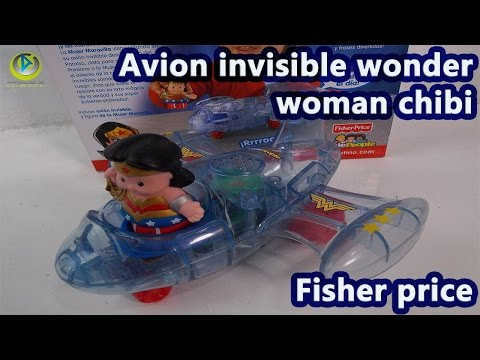 Wonder woman Invisible plane chibi avion invisible chibi fisher price review