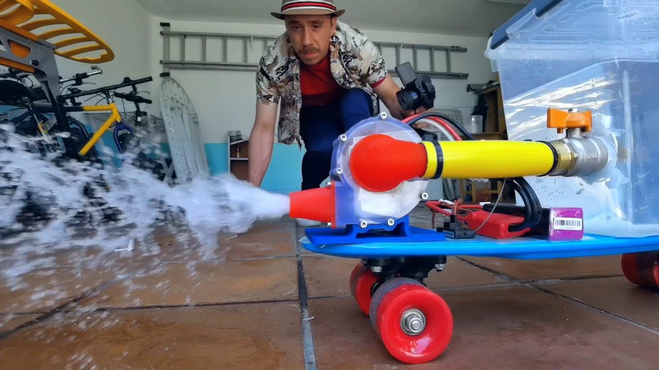 Water Rocket Skateboard (3D Printed)
