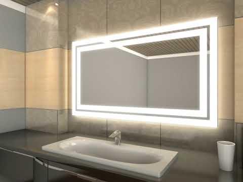 Badspiegel mit LED Beleuchtung - Sveja - YouTube