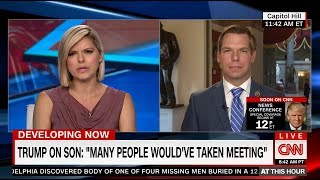Rep. Swalwell on CNN discussing Trump Jr., Kushner & Manafort meeting with Russian emissary