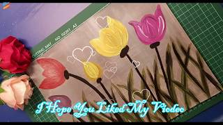Paint Tulip flowers with Acrylic Paints   How to Paint Tulips with Acrylic Paints