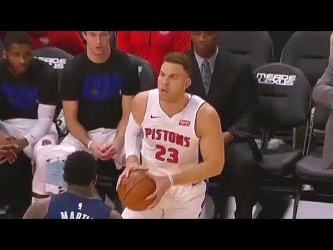 Blake Griffin's First Bucket with the Pistons in Detroit Pistons Debut! Pistons vs Grizzlies
