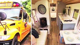 Für 75.000 Euro: Paar baut alten Schulbus zu Luxus-Apartment um