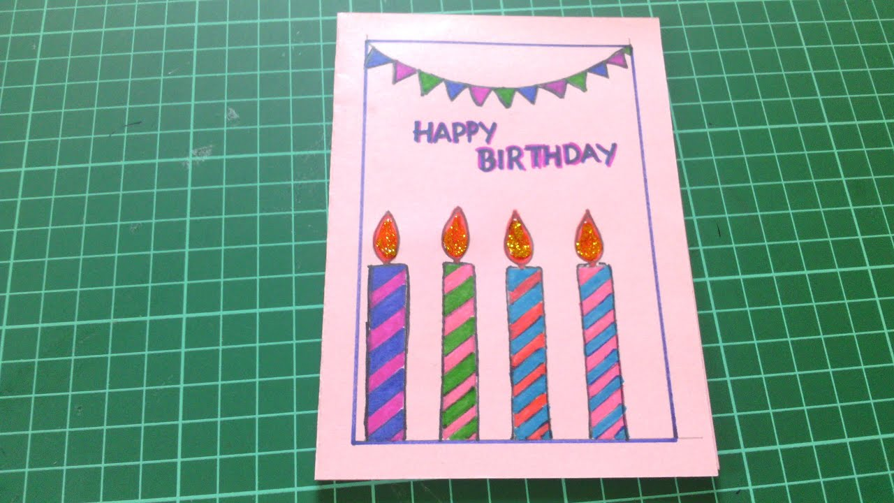 Happy Birthday Cards for Friends Handmade YouTube – Handmade Happy Birthday Cards