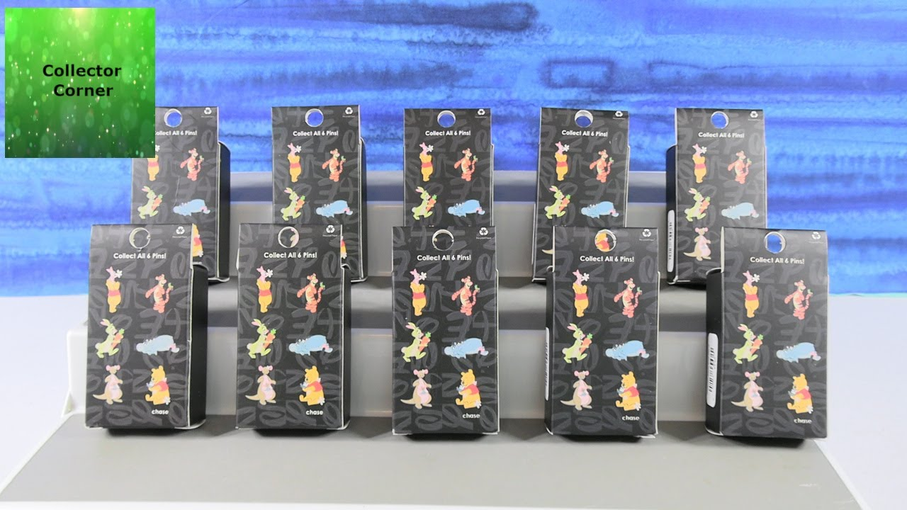 Disney Winnie The Pooh Collector Blind Box Trading Pins Unboxing Review | CollectorCorner