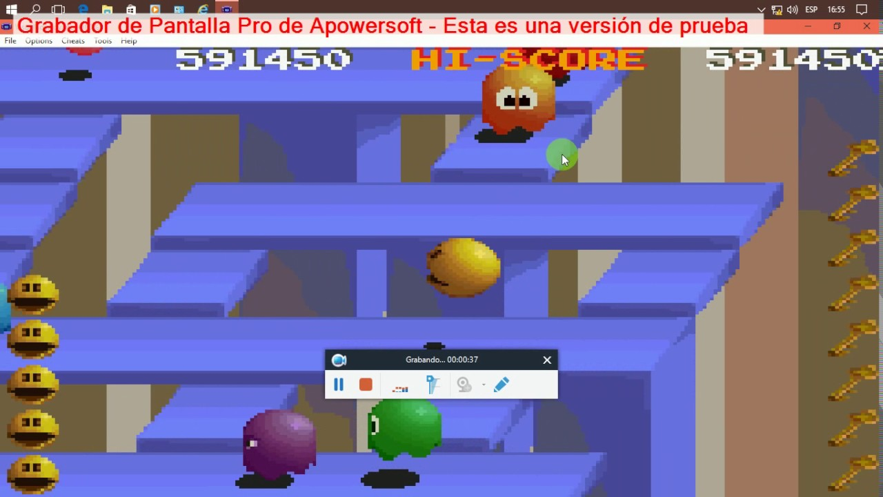 Pac Man Collection  Pac Mania Nivel 21