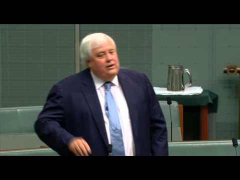 Clive Palmer against university fees in the House of Representatives 11-02-2015