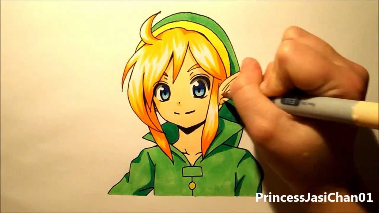 Watch Me Drawing Link Legend Of Zelda Youtube
