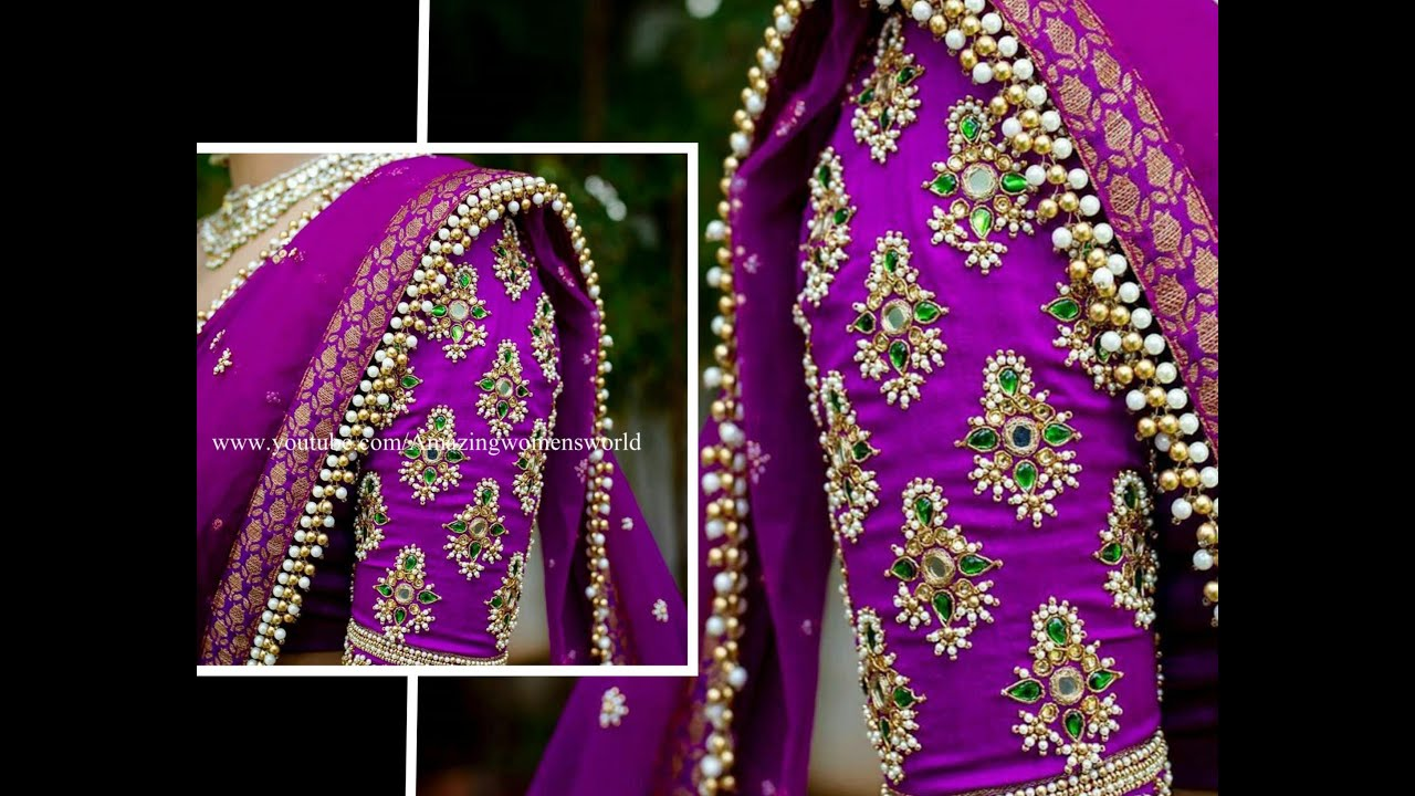 Most Exotic Looking Design making with Normal Stitching Needle - Same Like Aari / Maggam Work
