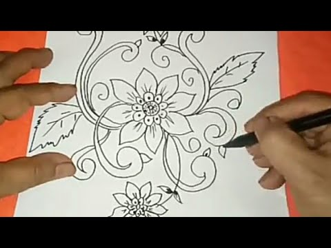 Sketsa Motif Batik Kontemporer 20 Youtube