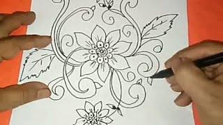 Sketsa Motif Batik Kontemporer 20