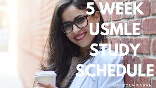 5 Week Intensive Study Strategy Before a Board Exam (USMLE, CBSE, ETC)