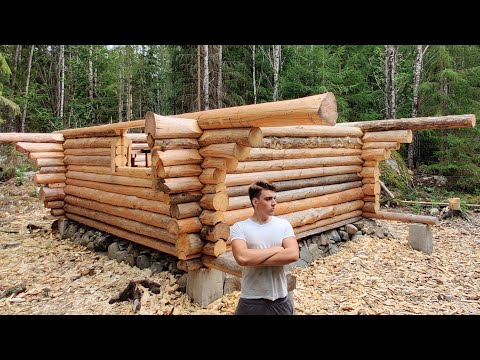 one-year-alone-in-the-wilderness-|-building-log-cabin-like-our-forefathers