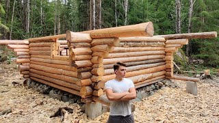 One Year Alone in Forests of Sweden | Building Log Cabin like our Forefathers