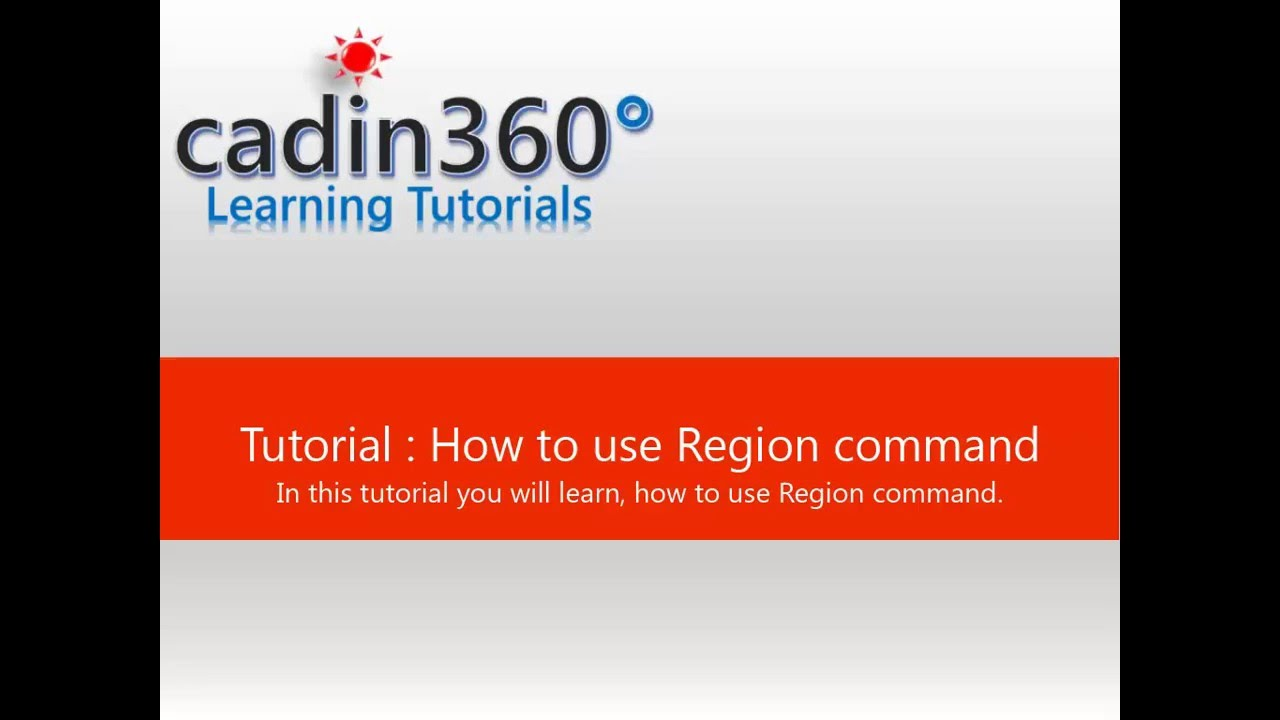 how to use region command in autocad