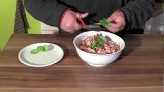 Mein Wurstsalat Rezept-Mediterraner Wurstsalat-Rezept Wurstsalat Mediterran-German Wurst Salad
