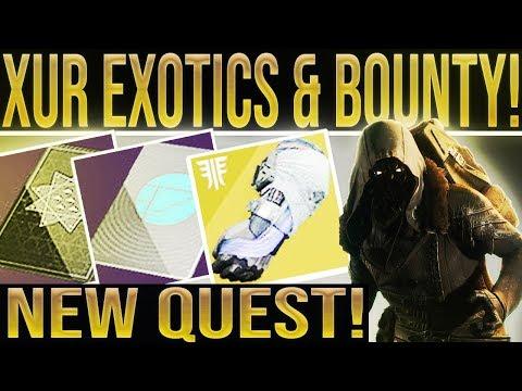 Destiny 2. XUR FORSAKEN EXOTICS & BOUNTY! Xur Location/Loot March 15, 2019. Where is Xur 3-22-2019? thumbnail