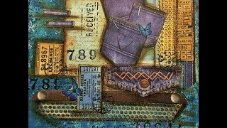 Jeans...  Art Journal page  Mixed Media