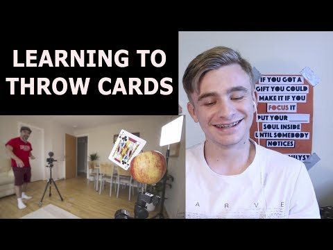 Magician REACTS to Learning How to Throw Cards