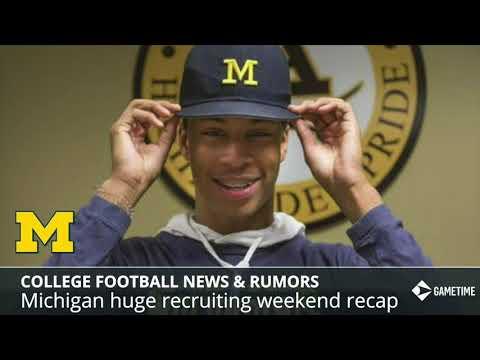 College Football News: Michigan Recruiting Update, 2020 QB Recruit To Alabama, CTE Blamed For Death