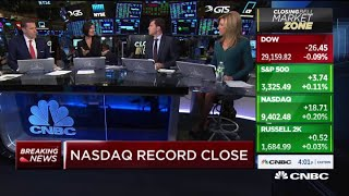 Nasdaq closes at record high even amid coronavirus scare
